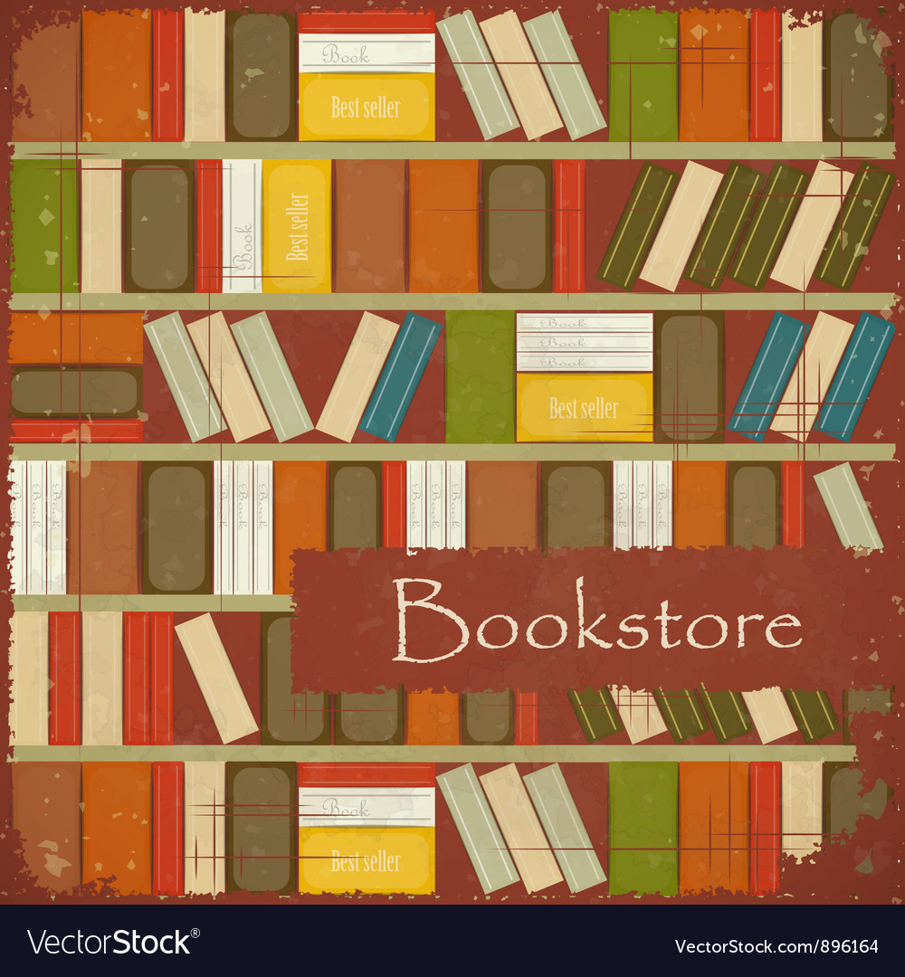Vintage bookstore background vector | Price: 1 Credit (USD $1)