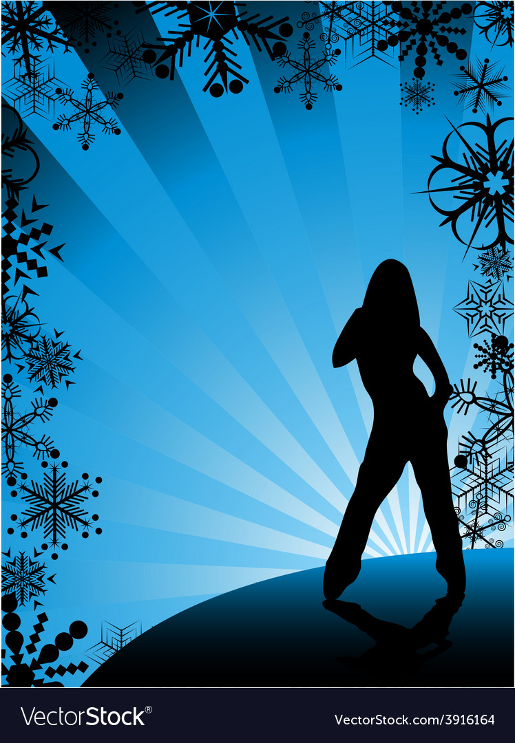 Winter party background vector | Price: 1 Credit (USD $1)
