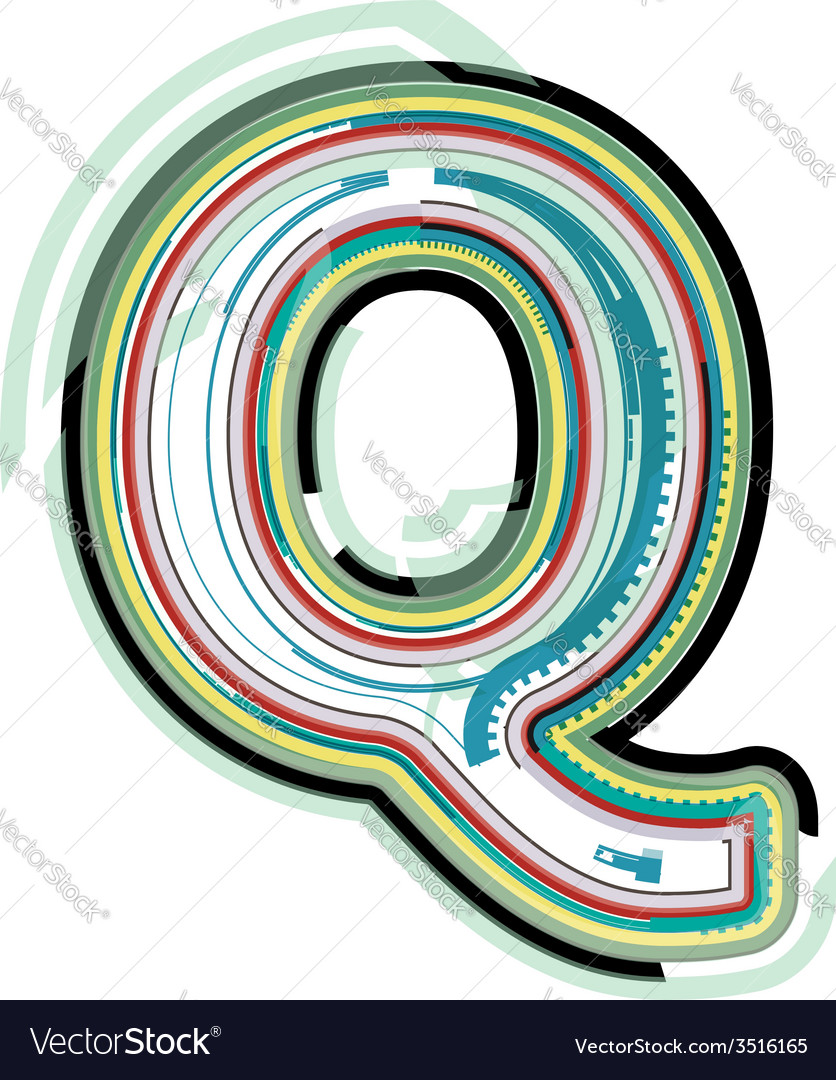 Abstract colorful letter q vector | Price: 1 Credit (USD $1)