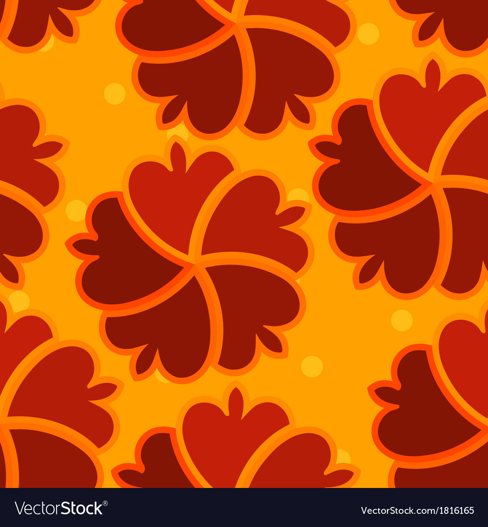 Abstract seamless texture with red flower vector | Price: 1 Credit (USD $1)
