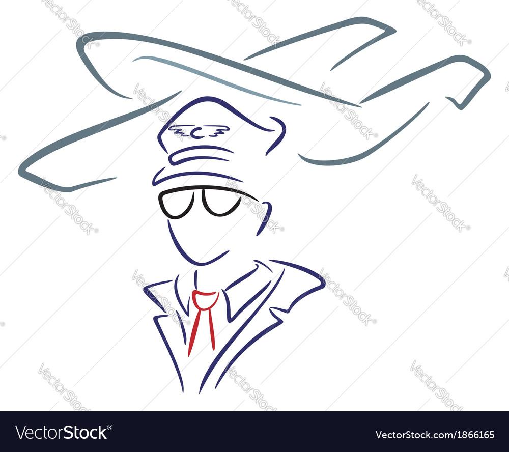 Aircraft and pilot vector | Price: 1 Credit (USD $1)