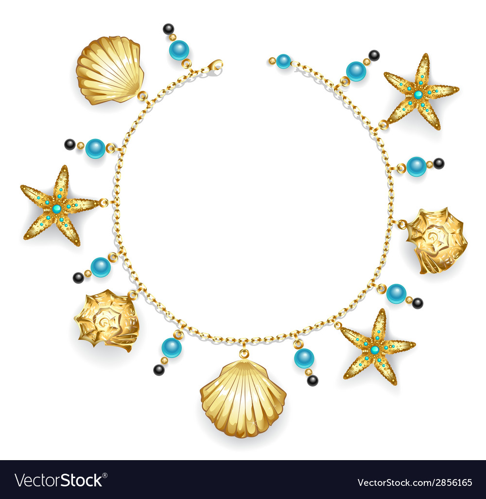Bracelet with seashells vector | Price: 1 Credit (USD $1)