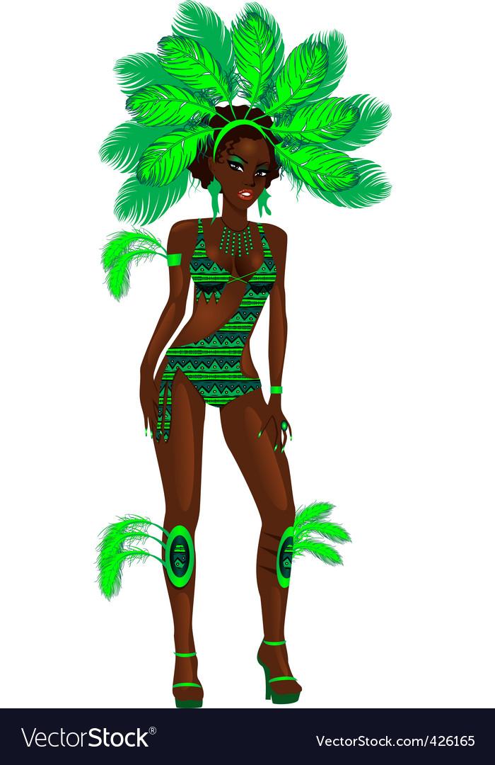 Carnival girl vector