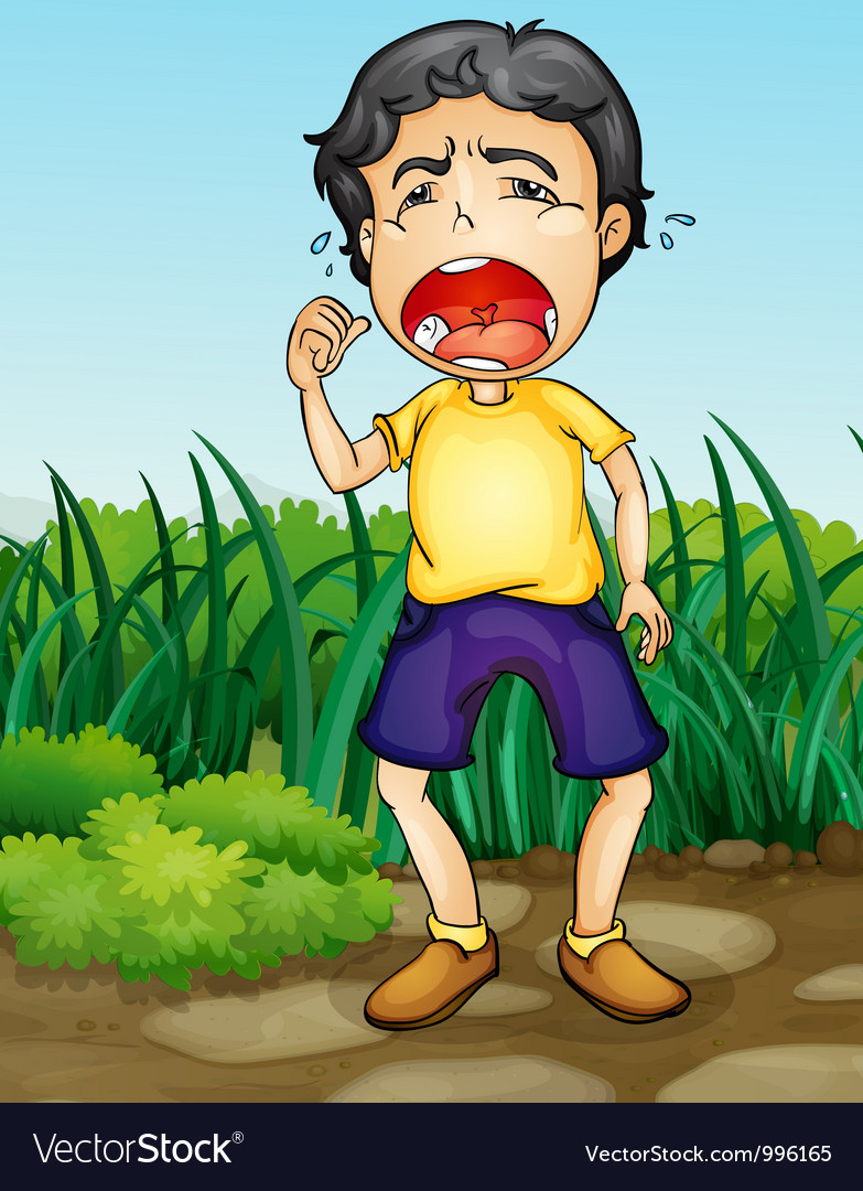 Crying boy vector | Price: 3 Credit (USD $3)