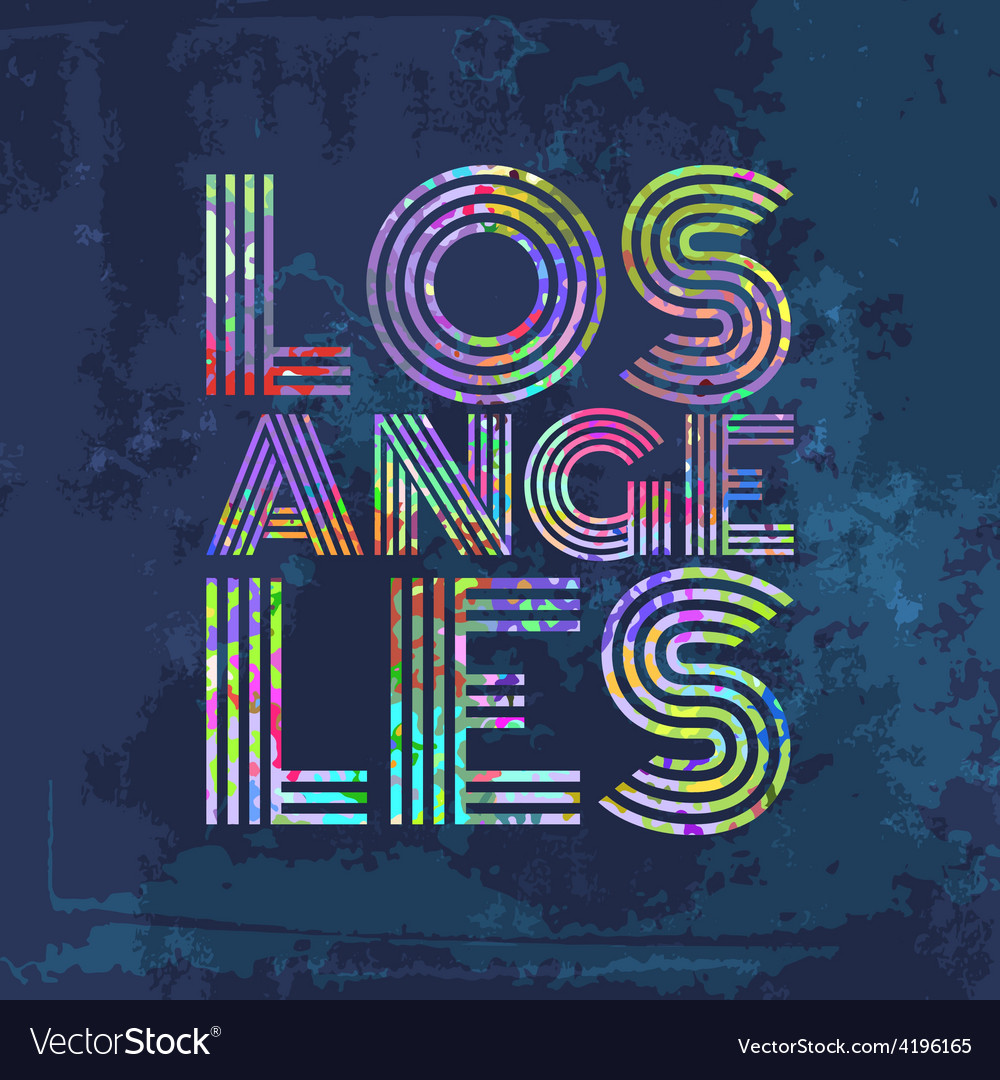 Los angeles - artwork for wear in custom colors vector | Price: 1 Credit (USD $1)