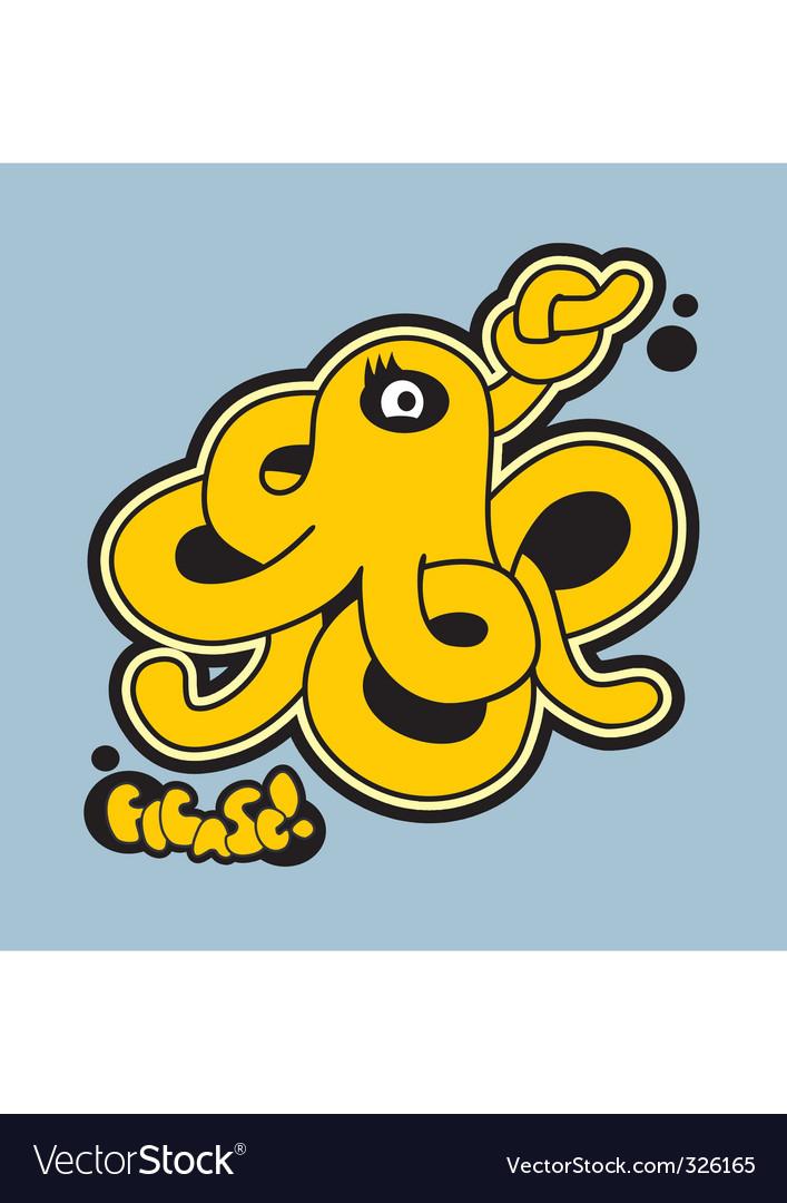 Octopus graffiti vector   Price: 1 Credit (USD $1)