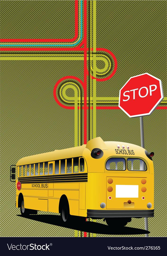 School bus vector | Price: 1 Credit (USD $1)