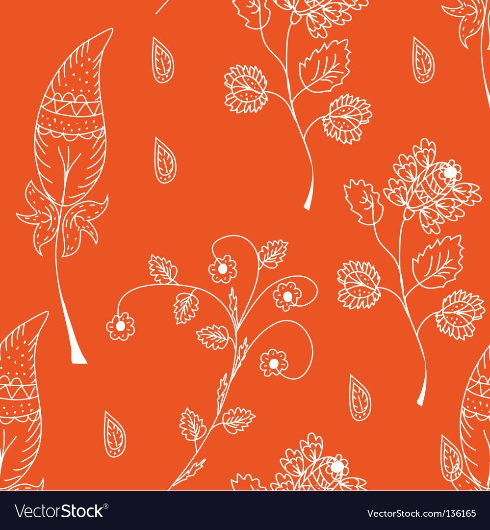 Seamless pattern with white flowers vector | Price: 1 Credit (USD $1)