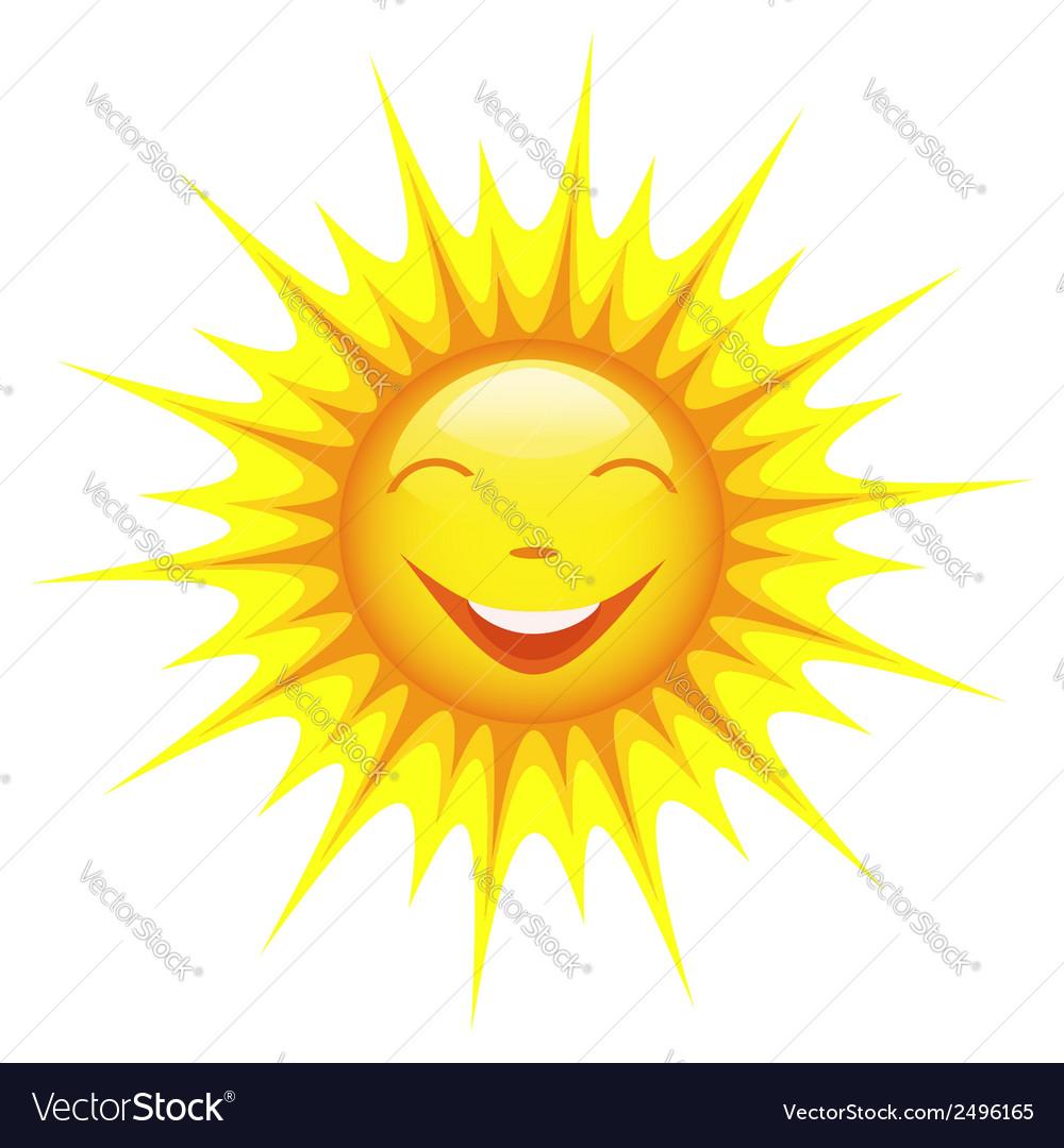 Smiling cute sun cartoon vector   Price: 1 Credit (USD $1)