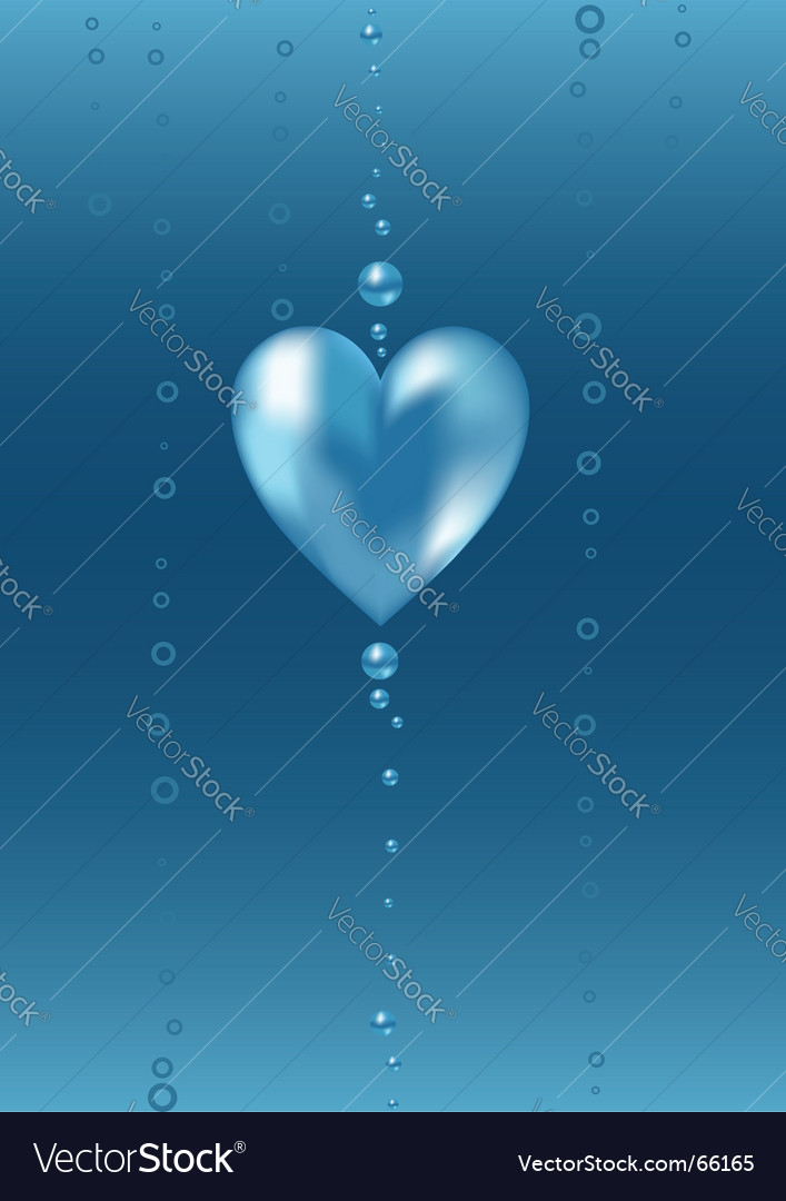 Underwater heart vector | Price: 1 Credit (USD $1)