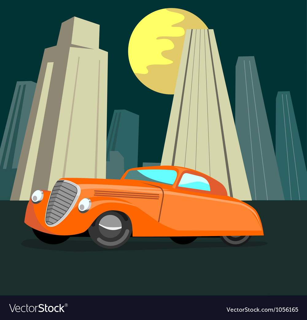 Vintage automobile building retro vector | Price: 3 Credit (USD $3)