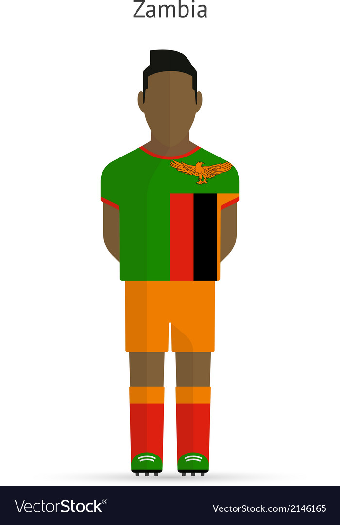 Zambia football player soccer uniform vector | Price: 1 Credit (USD $1)