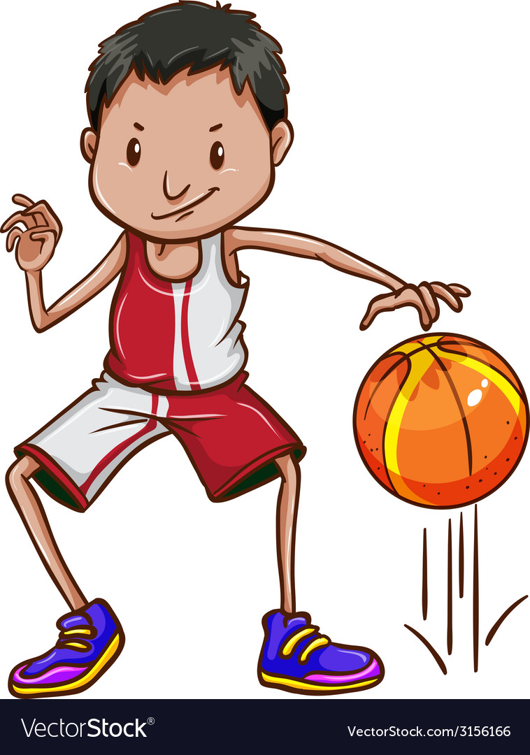 An energetic basketball player vector | Price: 1 Credit (USD $1)