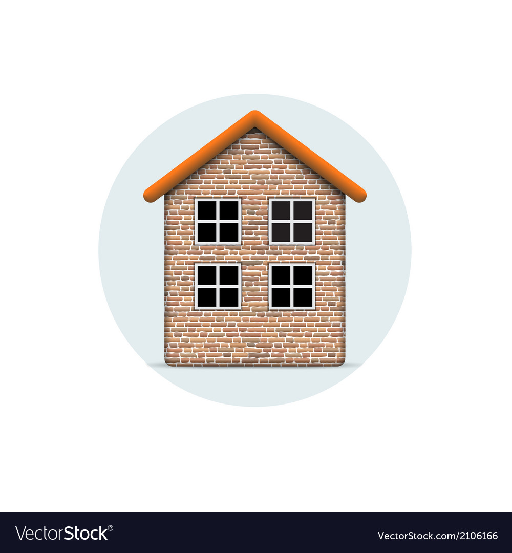 Brick house vector | Price: 1 Credit (USD $1)
