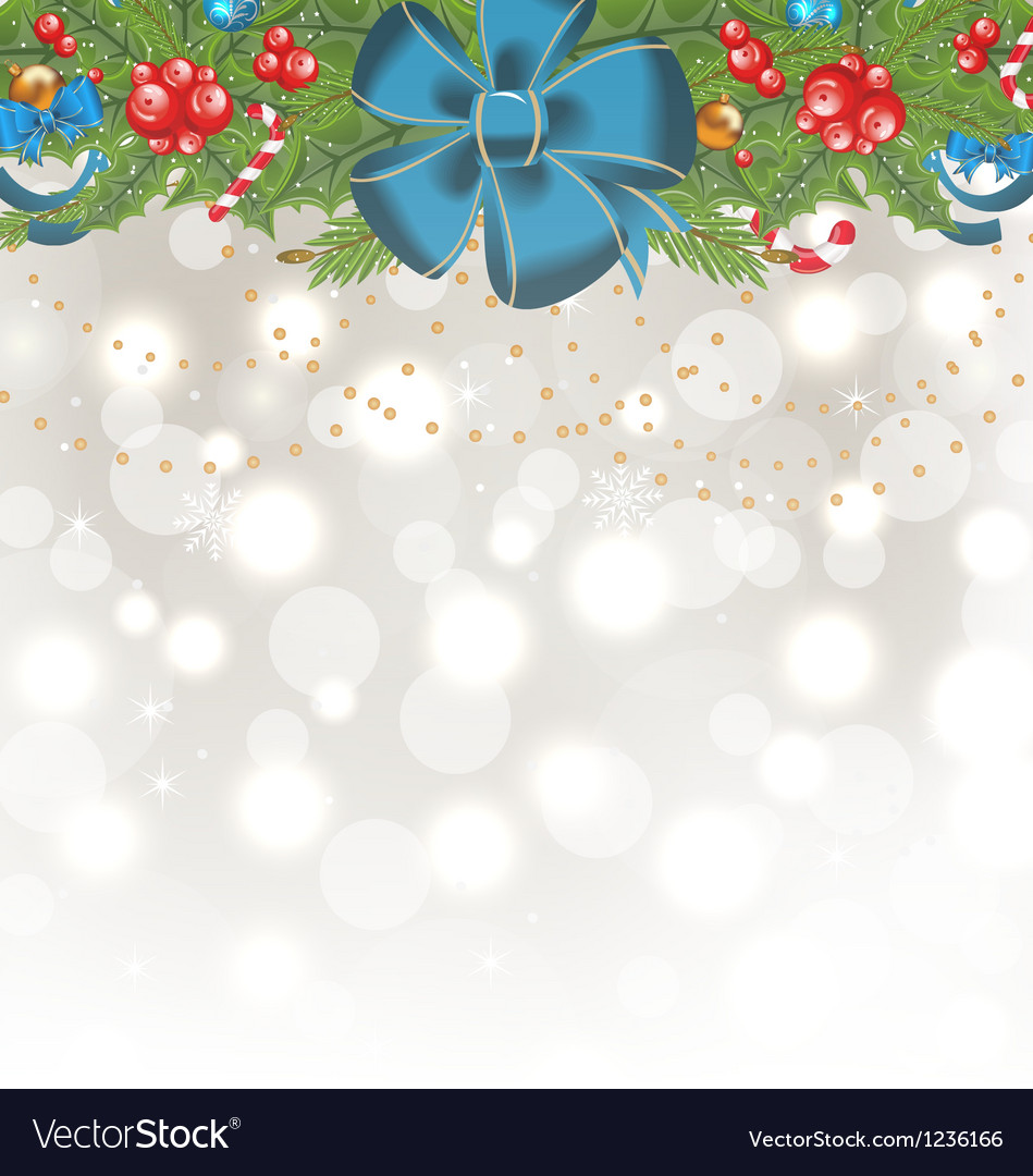 Christmas glowing background with holiday vector | Price: 1 Credit (USD $1)