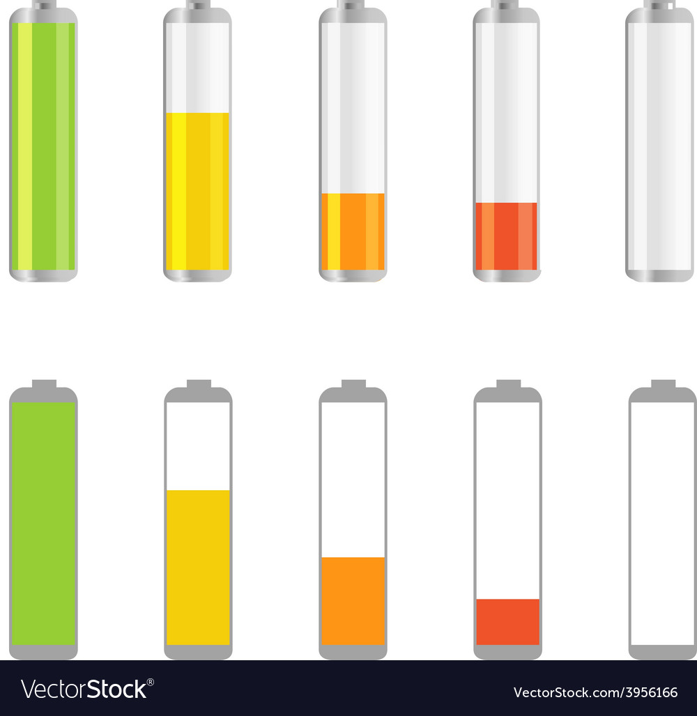 Different accumulator design elements vector | Price: 1 Credit (USD $1)