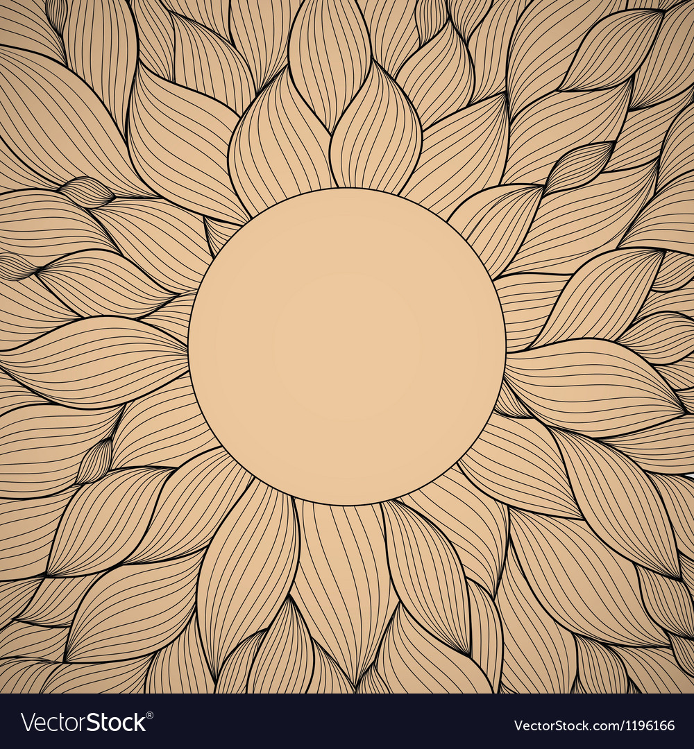 Radial hand-drawn pattern waves background vector | Price: 1 Credit (USD $1)