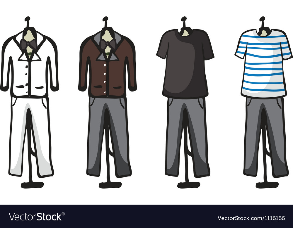 Various garments of male vector | Price: 1 Credit (USD $1)