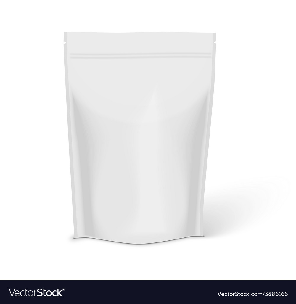 White blank foil food isolated on white background vector   Price: 1 Credit (USD $1)
