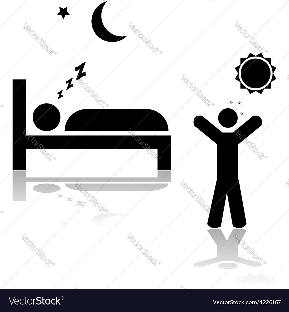 Asleep and awake vector | Price: 1 Credit (USD $1)
