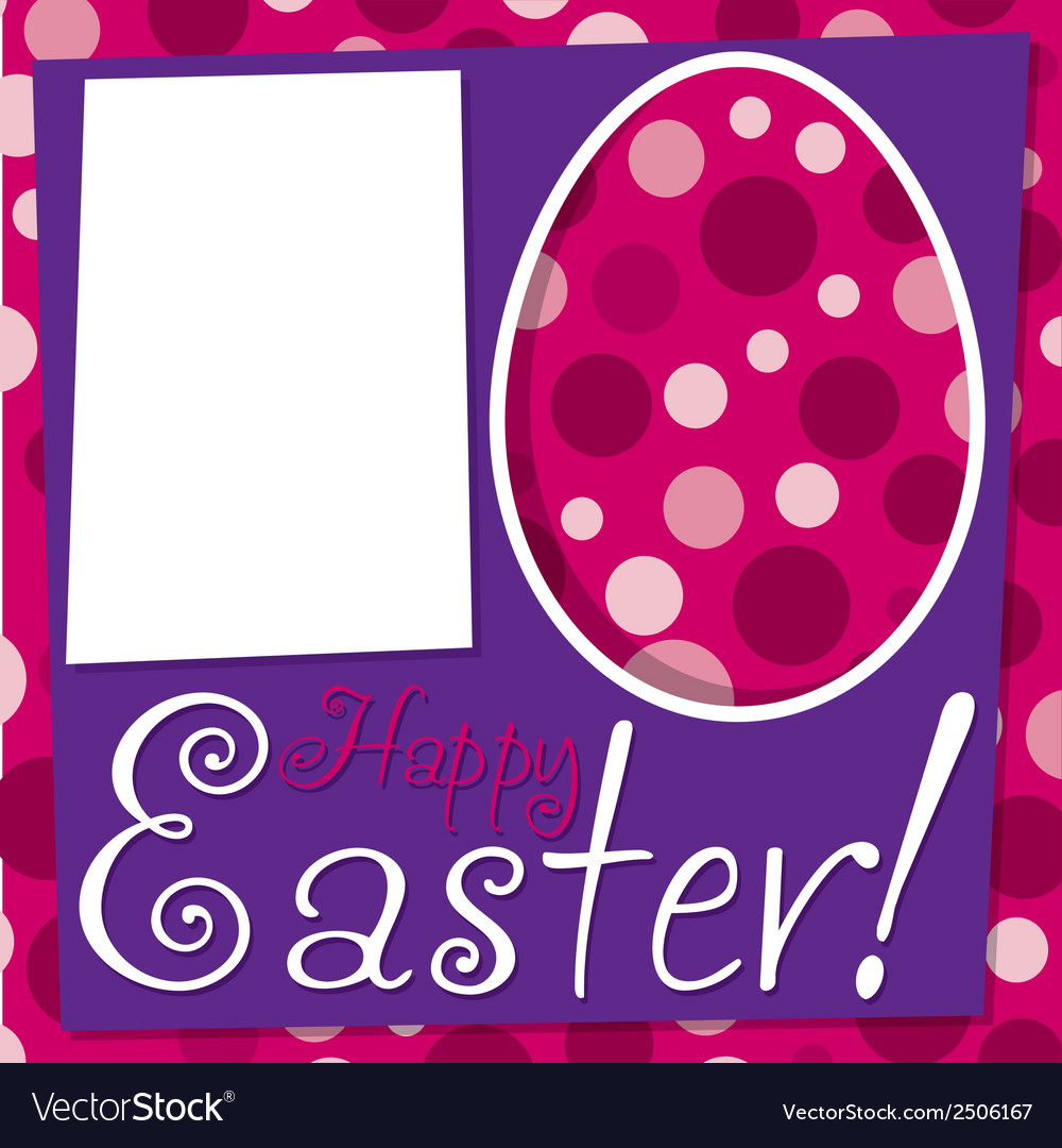 Bright retro happy easter card in format vector | Price: 1 Credit (USD $1)