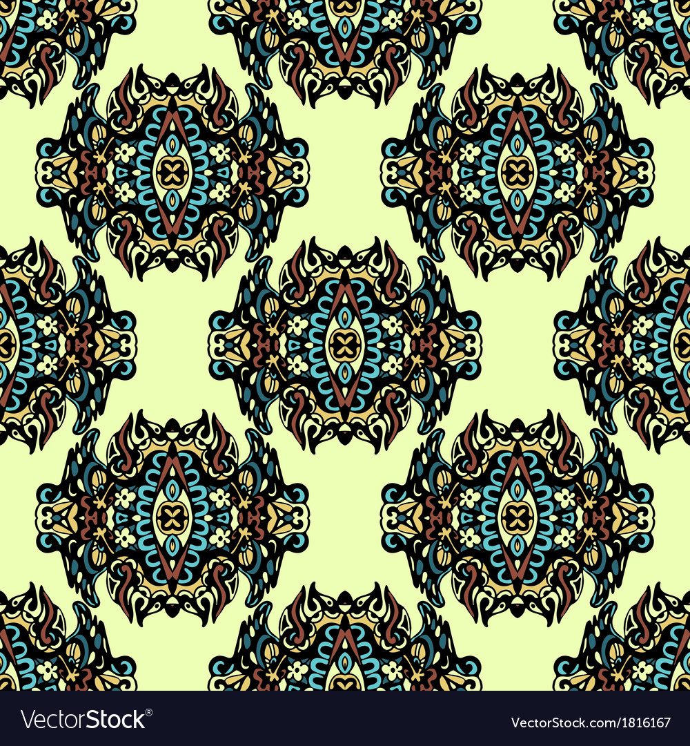 Damask seamless wallpaper vector | Price: 1 Credit (USD $1)