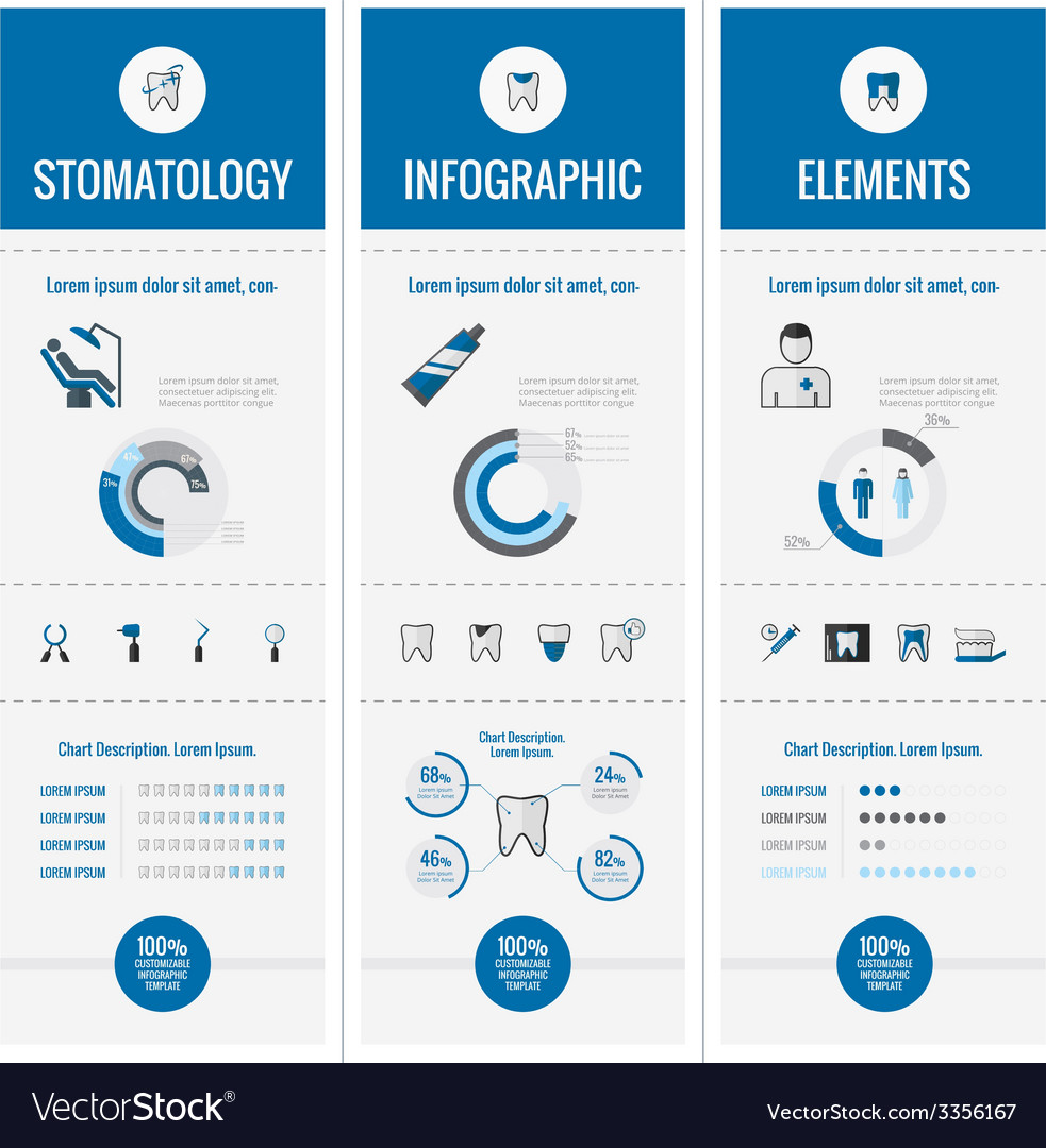 Dental infographic elements vector | Price: 1 Credit (USD $1)
