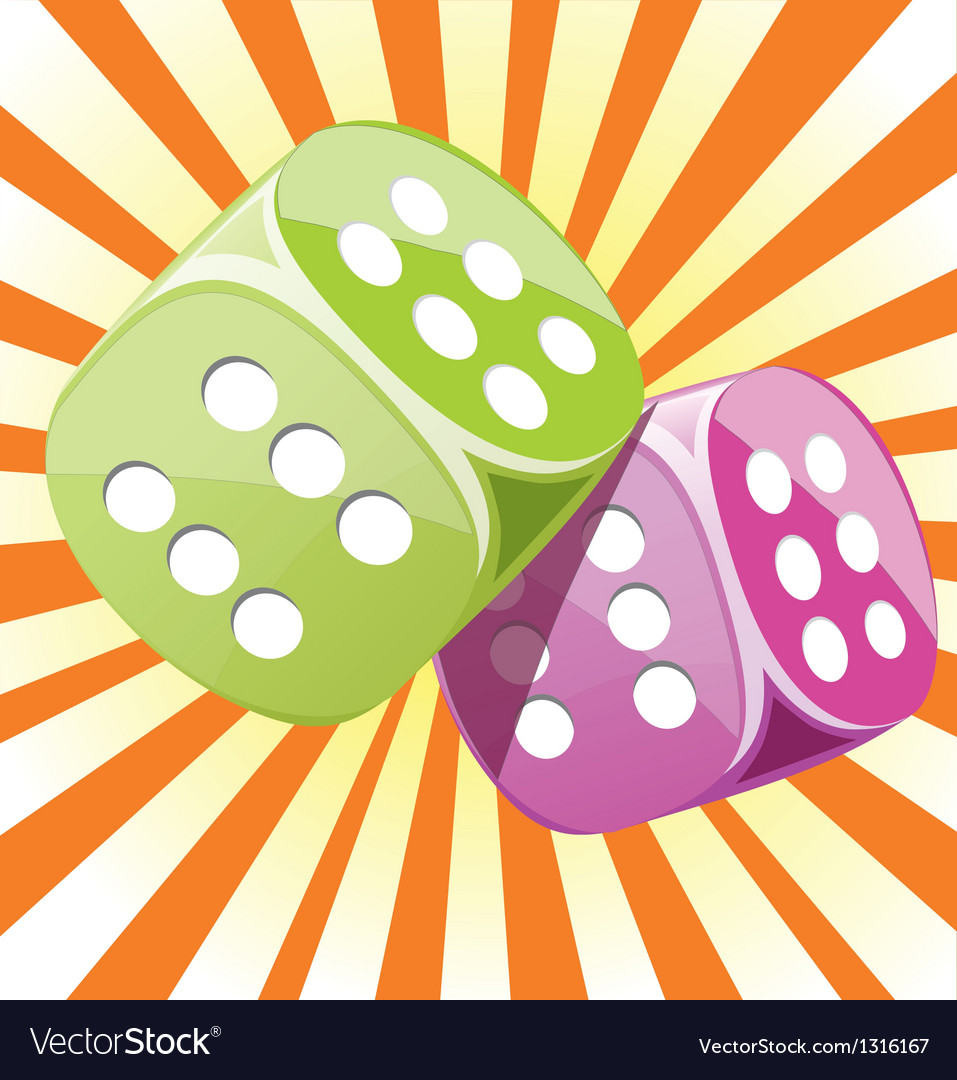 Dice lucky casino gambling game win success vector | Price: 3 Credit (USD $3)