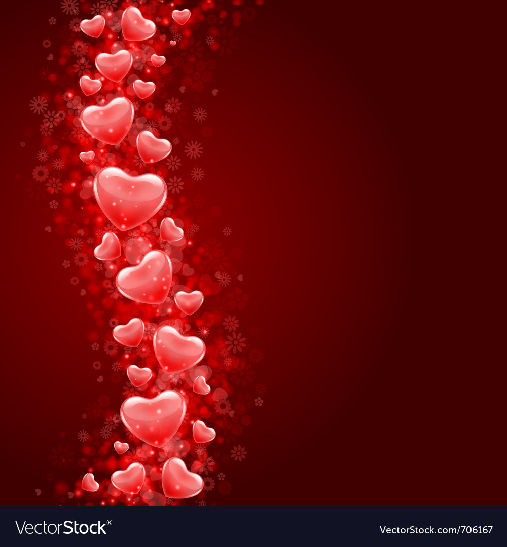 Hearts fly background vector | Price: 1 Credit (USD $1)