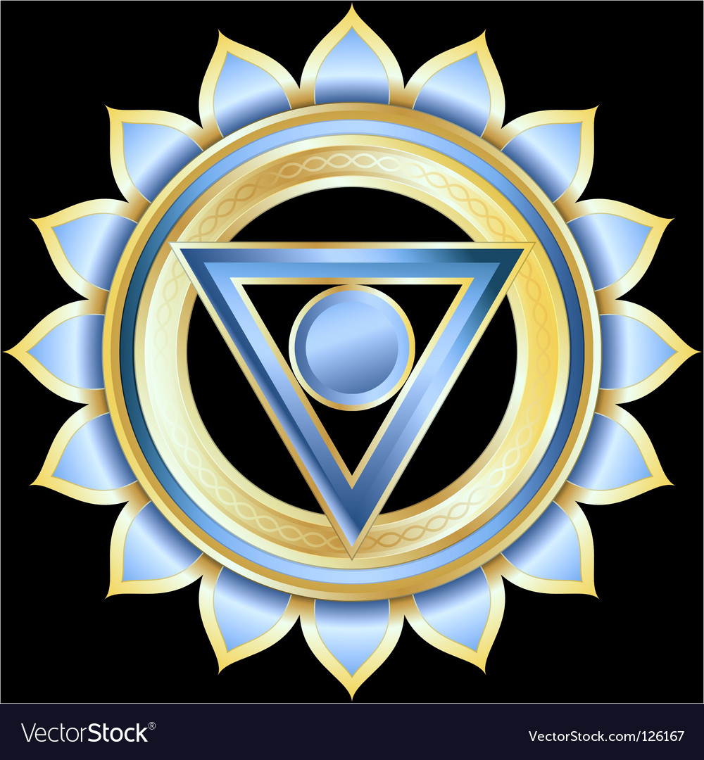 Hindu chakra vishuddha medallion vector | Price: 3 Credit (USD $3)