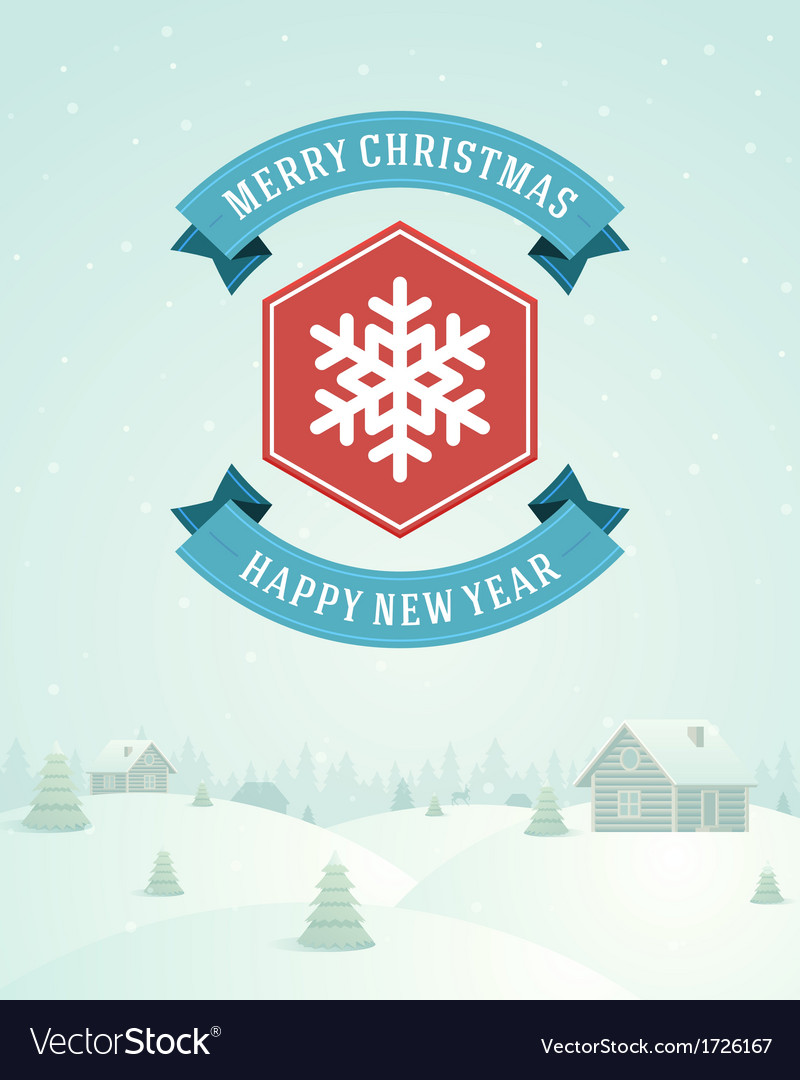 Merry christmas greeting card ornament decoration vector | Price: 1 Credit (USD $1)