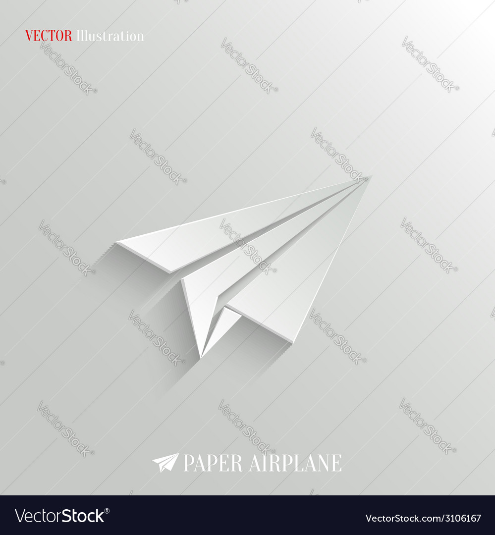 Paper airplane icon - web background vector | Price: 1 Credit (USD $1)
