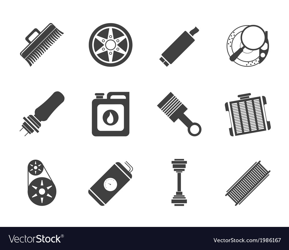 Realistic car parts and services icons vector | Price: 1 Credit (USD $1)