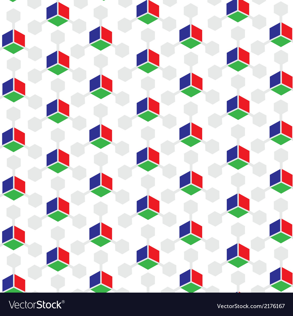 Rgb colored 3d cube patterned background vector | Price: 1 Credit (USD $1)