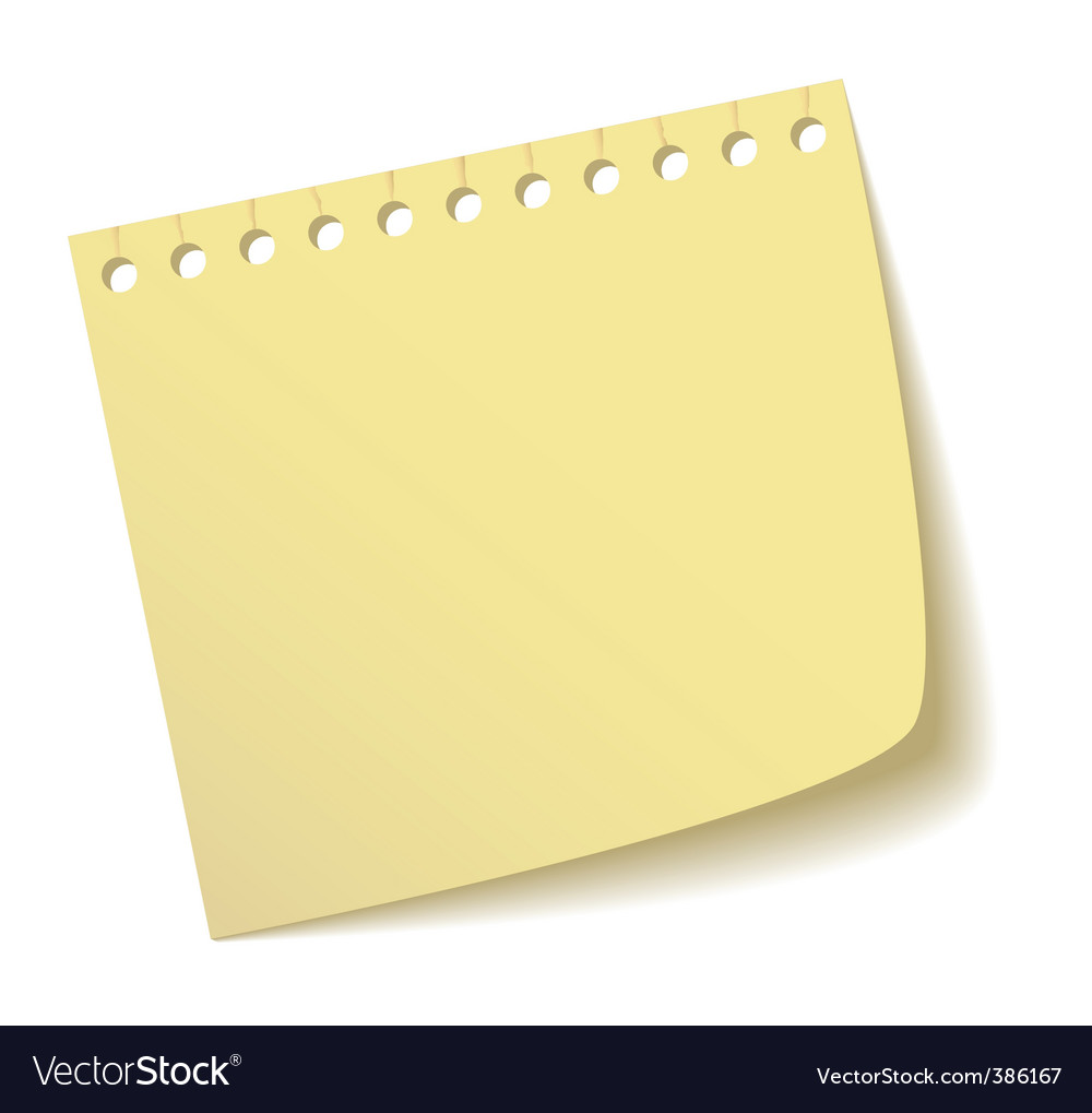 Sheet of notebook vector | Price: 1 Credit (USD $1)