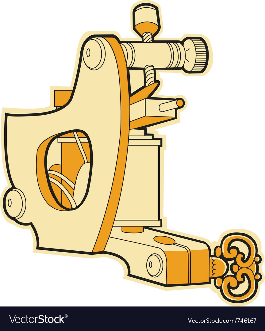 Tattoo machine vector | Price: 1 Credit (USD $1)
