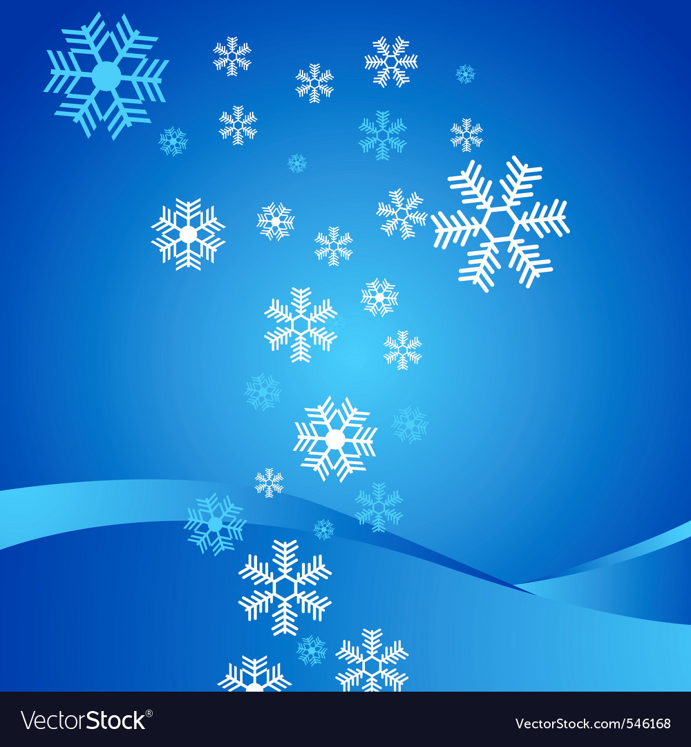 Abstract background with snowflakes vector | Price: 1 Credit (USD $1)