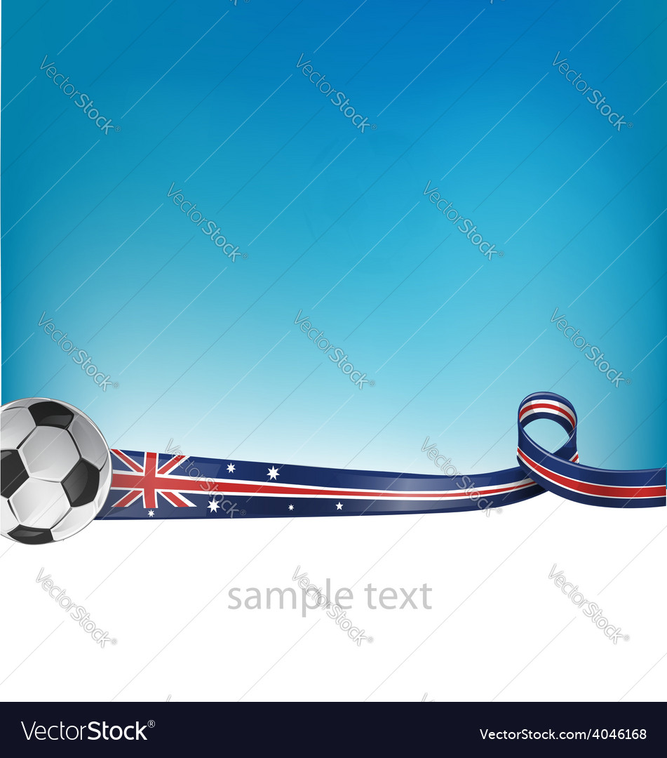 Australian flag with soccer ball vector | Price: 1 Credit (USD $1)
