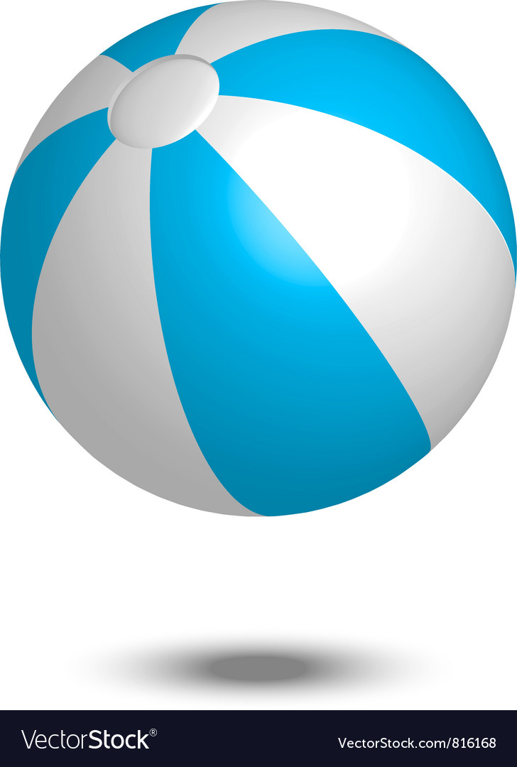 Blue summer ball vector | Price: 1 Credit (USD $1)