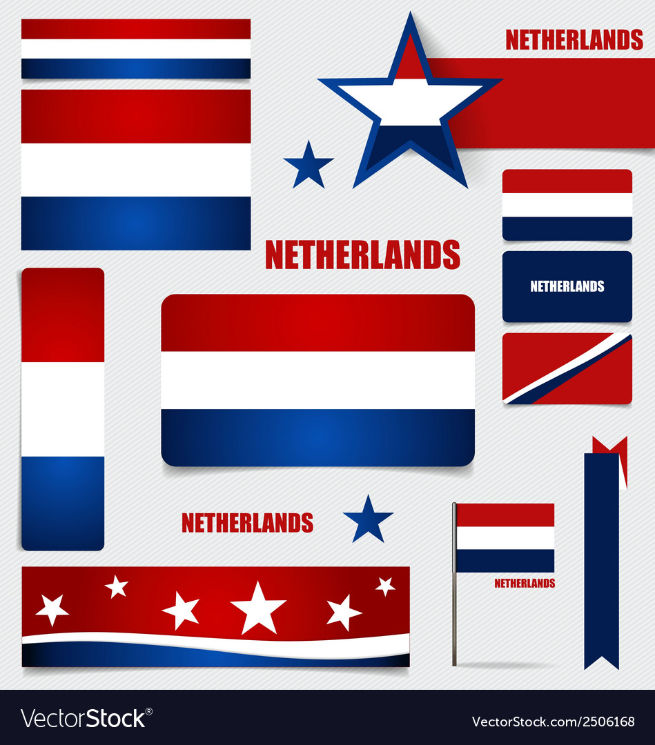 Collection of netherlands flags flags concept vector | Price: 1 Credit (USD $1)