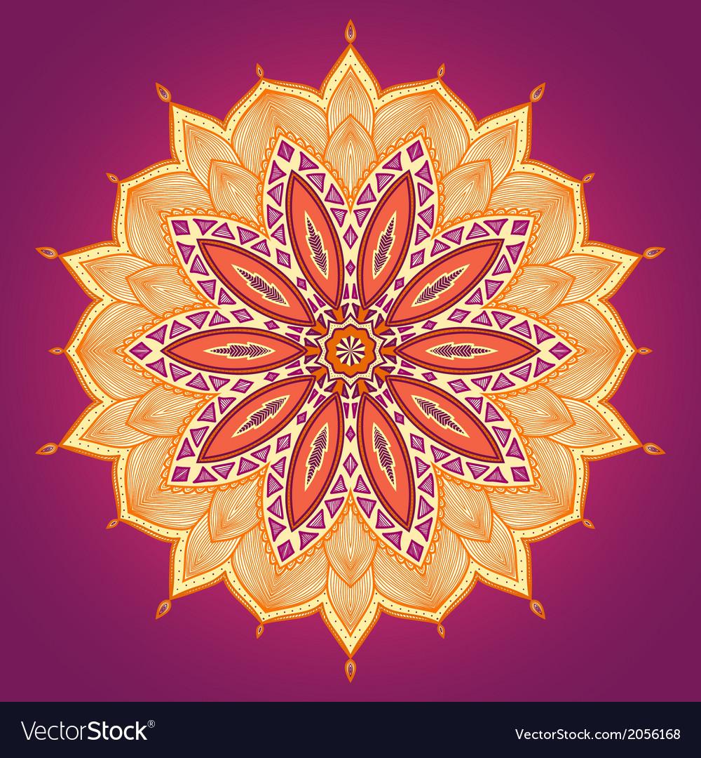 Ethnic round ornamental pattern vector | Price: 1 Credit (USD $1)