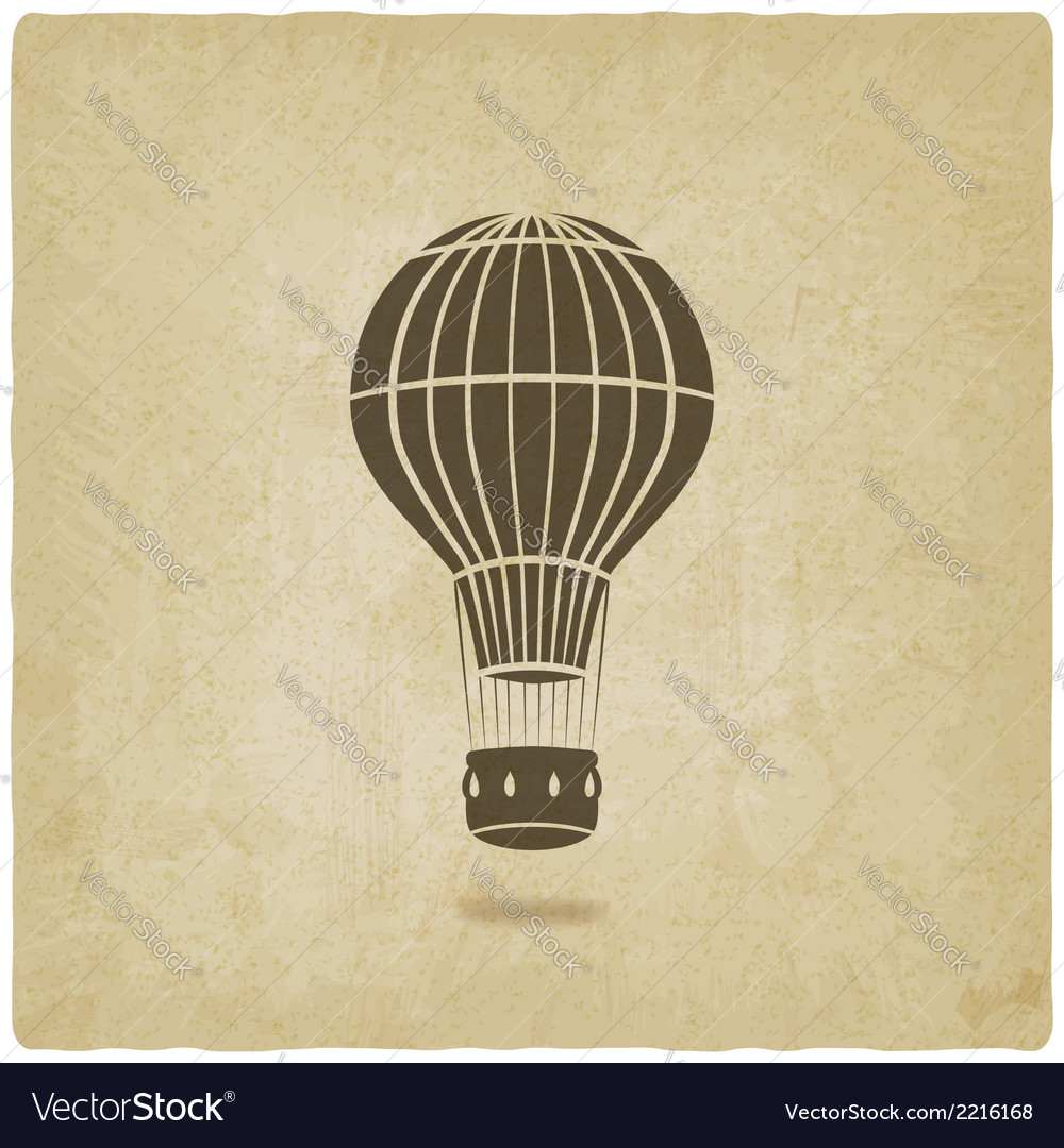 Hot air balloon old background vector | Price: 1 Credit (USD $1)