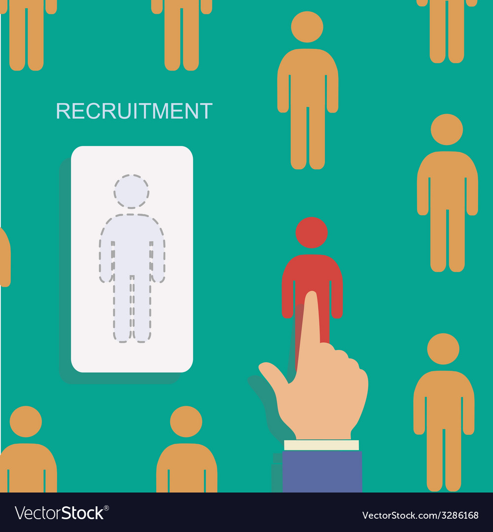 Human resource and recruitment modern concept hand vector | Price: 1 Credit (USD $1)