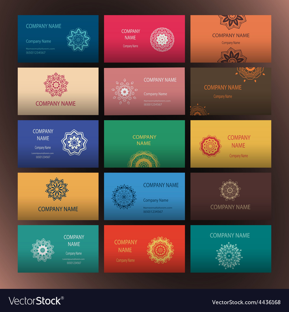 Mandalas business card 4 yoga vector | Price: 1 Credit (USD $1)