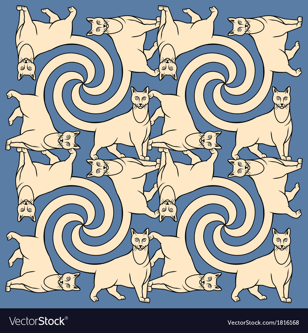 Seamless cats repetition pattern vector | Price: 1 Credit (USD $1)
