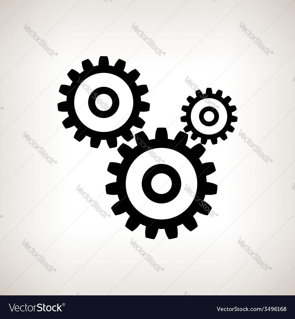 Silhouette gears on a light background vector | Price: 1 Credit (USD $1)