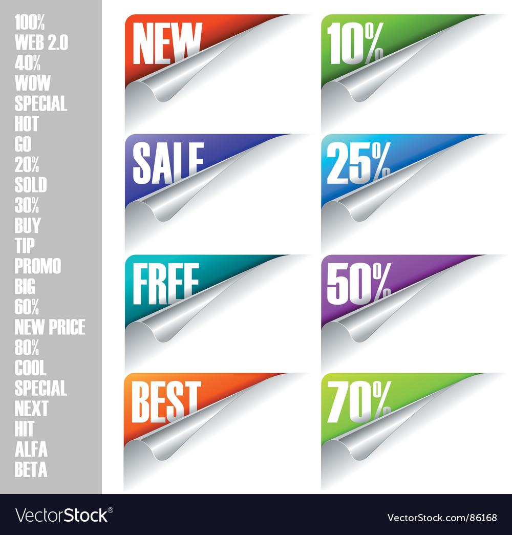 Sticker corners vector | Price: 1 Credit (USD $1)