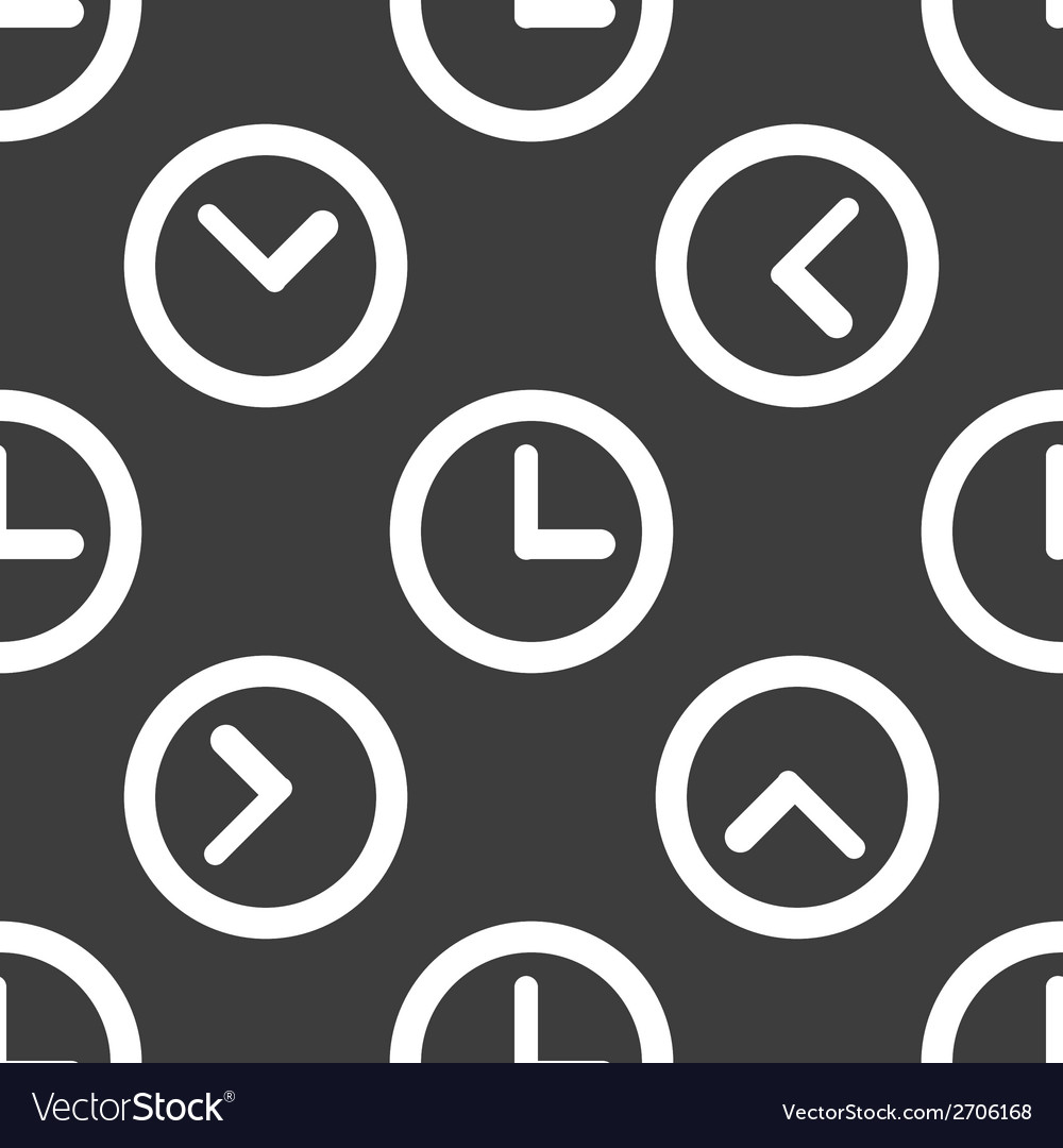 Watch web icon flat design seamless pattern vector | Price: 1 Credit (USD $1)
