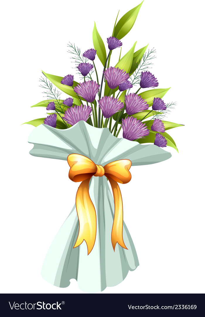 A boquet of violet flowers vector | Price: 1 Credit (USD $1)