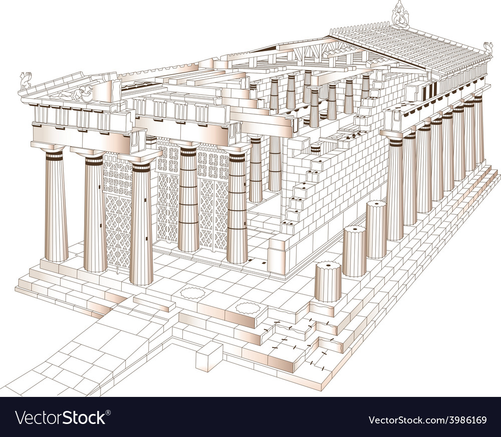 Acropolis vector | Price: 1 Credit (USD $1)